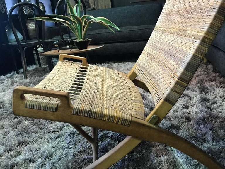 Danish Hans Wegner Midcentury Original Classic JH-512 Folding Lounge Chair, 1950s For Sale