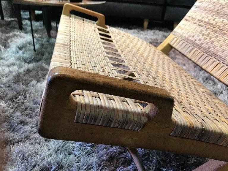 20th Century Hans Wegner Midcentury Original Classic JH-512 Folding Lounge Chair, 1950s For Sale