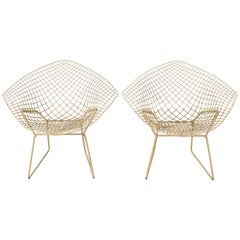 "Midcentury Original  ""Diamond"" Chairs Harry Bertoia for Knoll Italy 1960s"