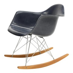 Original Herman Miller Eames Fiberglass RAR Rocking Chair in Navy Blue