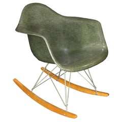 Original Herman Miller Eames RAR Rocking Chair in Olive Green