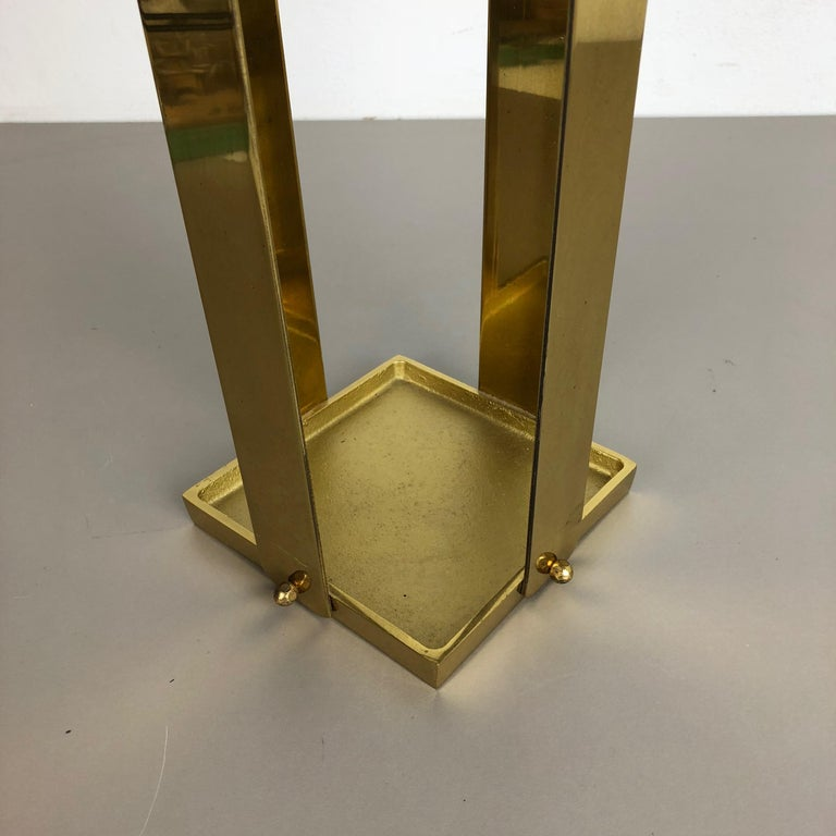 Original Hollywood Regency Solid Brass Umbrella Stand, Italy, 1970s No. 2 For Sale 5
