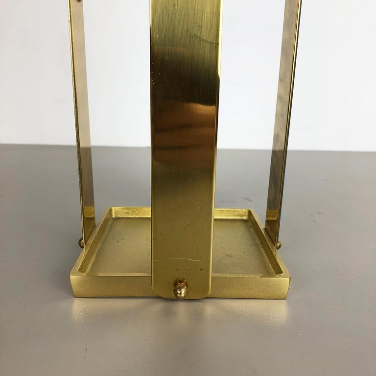Italian Original Hollywood Regency Solid Brass Umbrella Stand, Italy, 1970s No. 2 For Sale