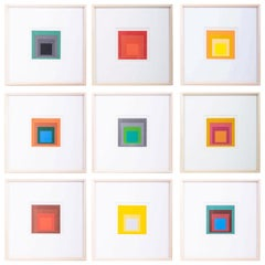 Original Homage to the Square Serigraphs by Josef Albers