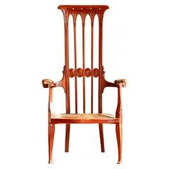 Original I. S. Henry Tall Back Chair London, 1895