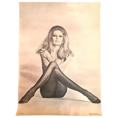 Original Iconic and Rare Vintage Brigitte Bardot Poster from 1970