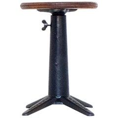 Original Industrial Singer Stool, Height Adjustable, circa 1930