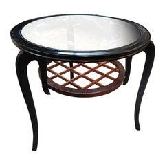 Original Italian Table in Ebonized Wood, 1950s