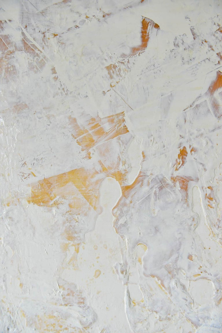 Original Ivory/Cream Abstract Acrylic on Canvas by Brandon Charles Weber In Excellent Condition For Sale In Costa Mesa, CA