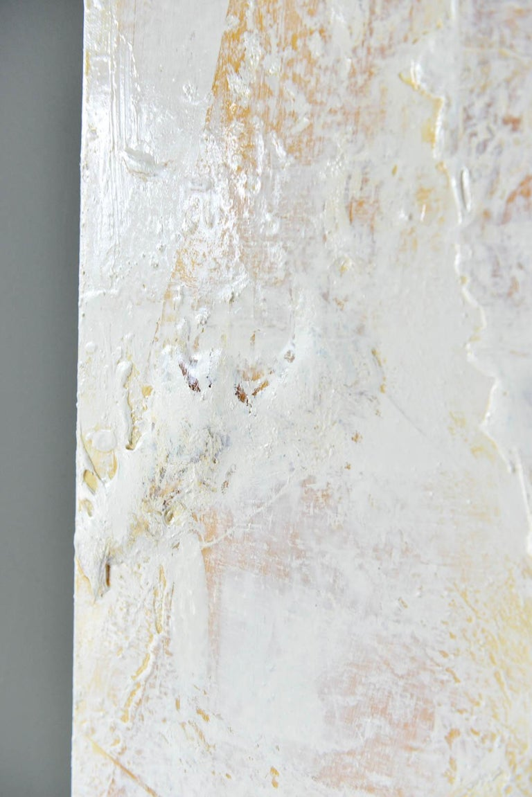 Contemporary Original Ivory/Cream Abstract Acrylic on Canvas by Brandon Charles Weber For Sale
