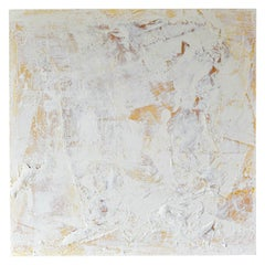 Original Ivory/Cream Abstract Acrylic on Canvas by Brandon Charles Weber