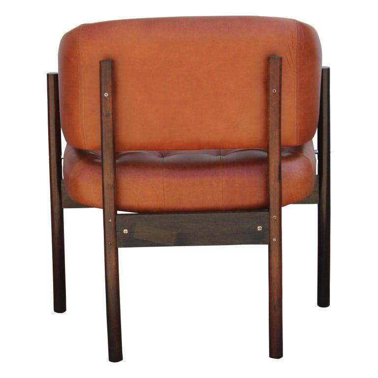 Mid-Century Modern Original Jorge Zalszupin Rosewood and Leather Armchairs (6 chairs) 1970s, Brazil For Sale