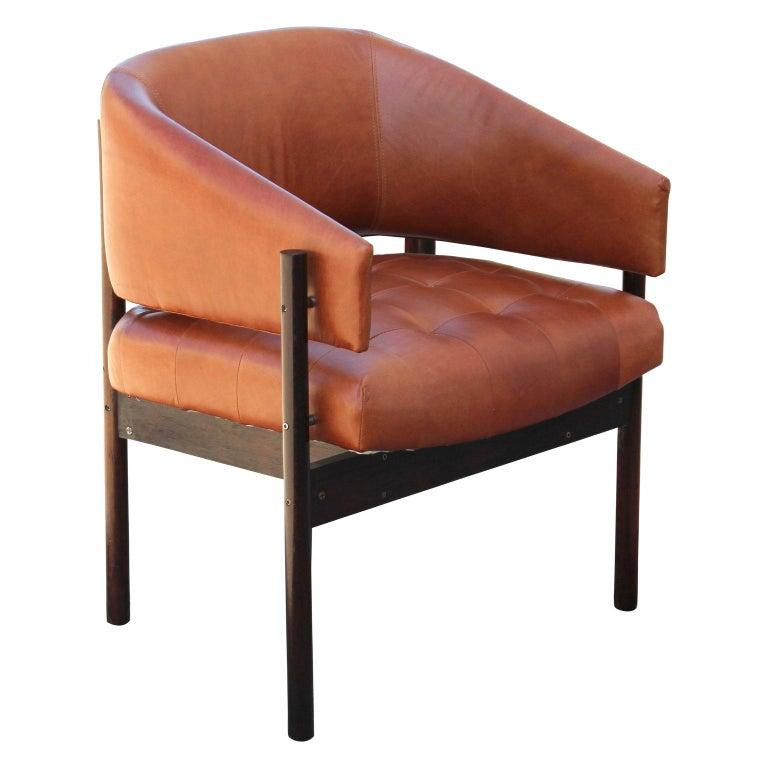 Late 20th Century Original Jorge Zalszupin Rosewood and Leather Armchairs (6 chairs) 1970s, Brazil For Sale