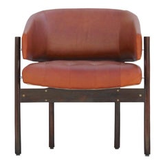 Original Jorge Zalszupin Rosewood and Leather Armchairs (6 chairs) 1970s, Brazil