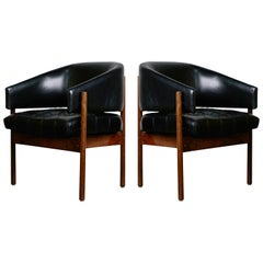 Jorge Zalszupin 'Senior' Rosewood & Leather Armchairs, Produced in 1972, Brazil