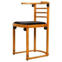 """Original Josef Hoffmann """"Bat"""" Chair Made of Solid Oakwood for Wittmann Austria"""