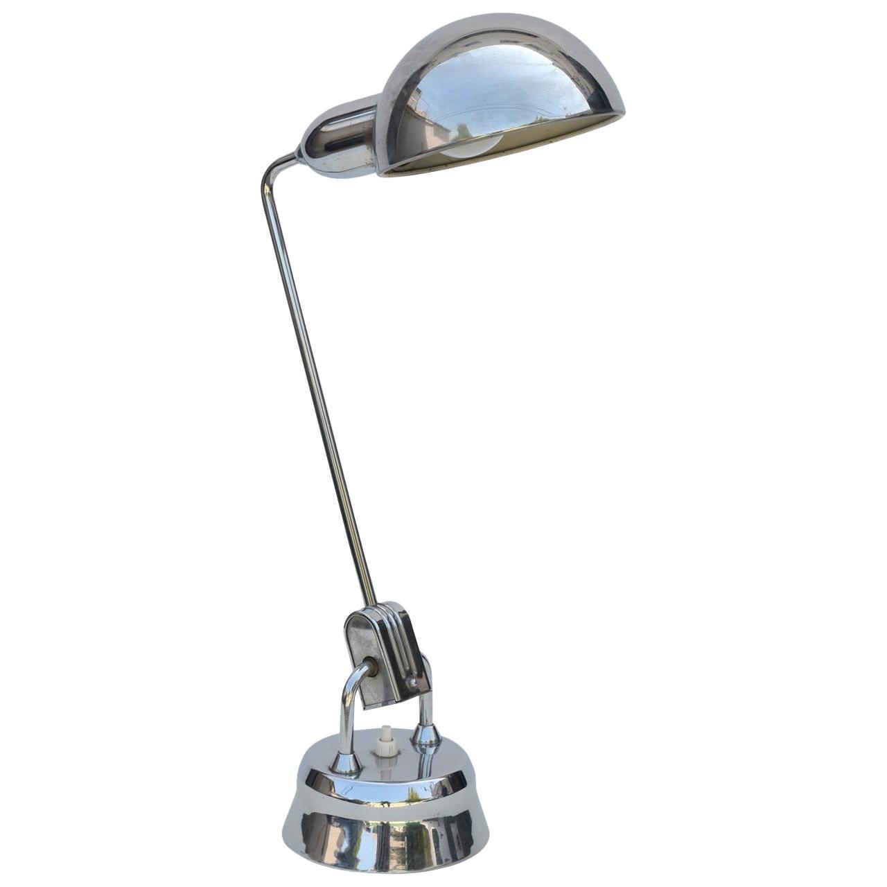 Original Jumo 600 Chrome Lamp Selected by Charlotte Perriand