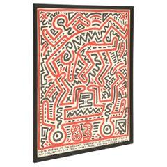 Original Keith Haring Signed Poster, Framed