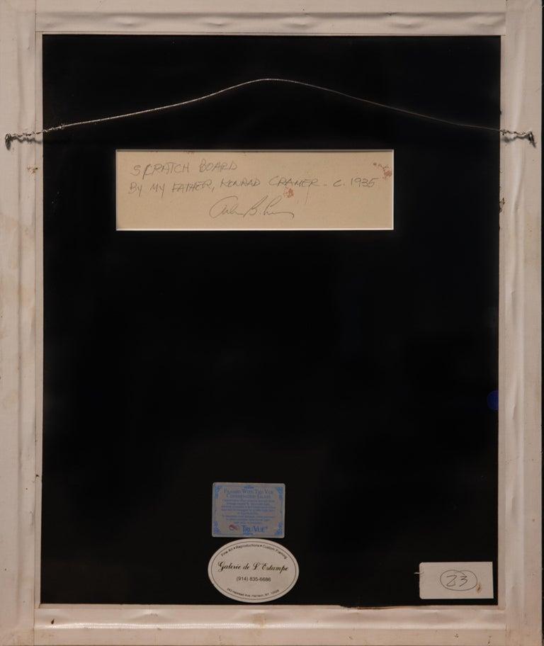 Original Konrad Cramer Sgraffito, circa 1935 In Good Condition For Sale In Hudson, NY