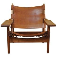 Original Kurt Østervig Oak and Leather Hunting Chair