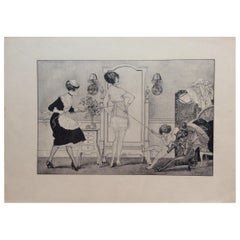 Original La Vie Parisienne Engraving Print by Celebrated Artist Herouard