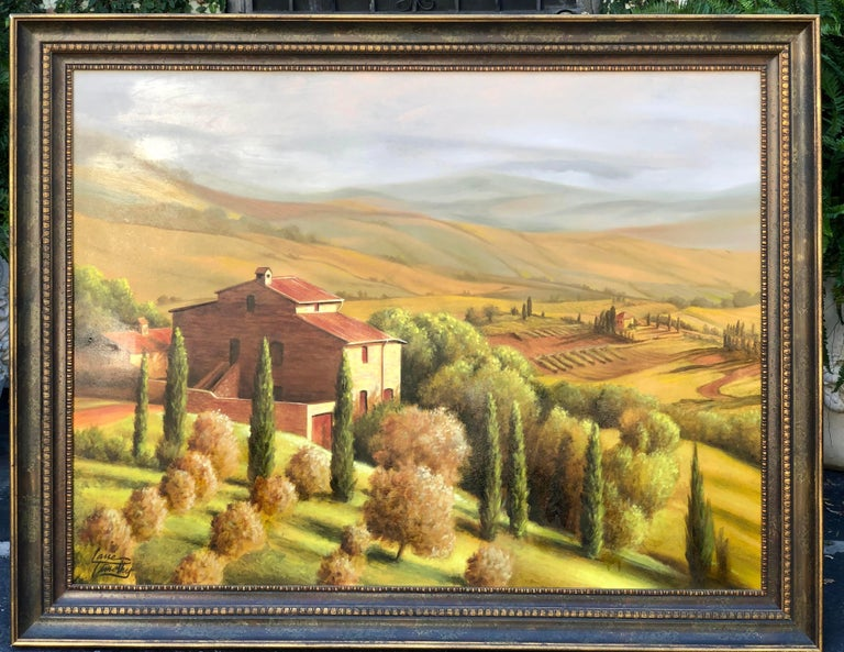 Early original Lane Timothy landscape oil painting. It is entitled