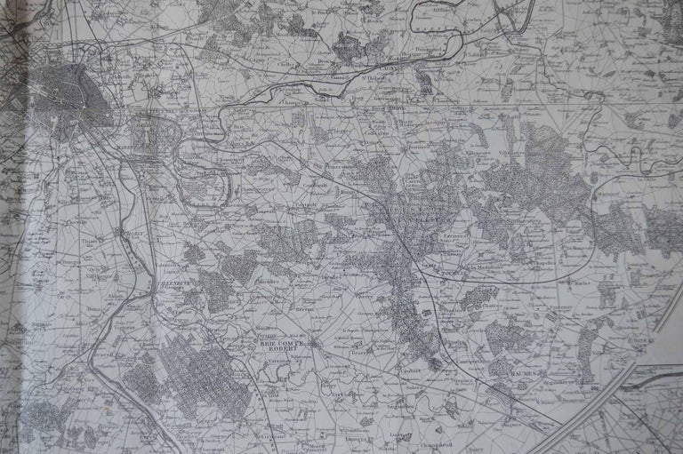 Other Original Large Antique Map of Paris, France by John Dower, 1861 For Sale