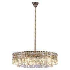 Original, Large, Oswald Haerdtl Lobmeyr Mid-Century Modern Crystal Chandelier