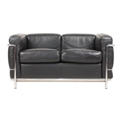 Original 'LC2' Sofa by Le Corbusier, Jeanneret & Perriand for Cassina