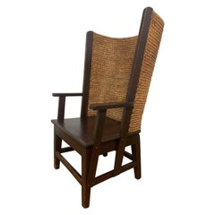 Original Liberty of London Orkney Chair in Pine and Oat Straw, Ca. 1900