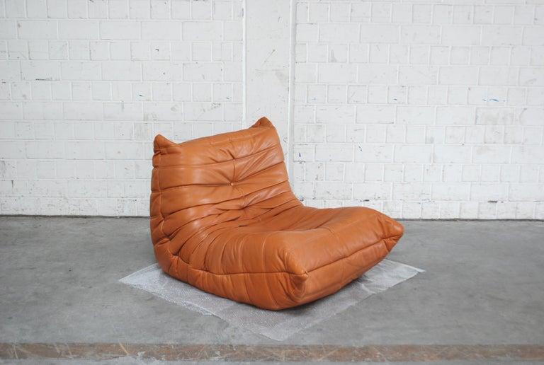 Original Ligne Roset Togo Cognac Aniline Leather Chair 10