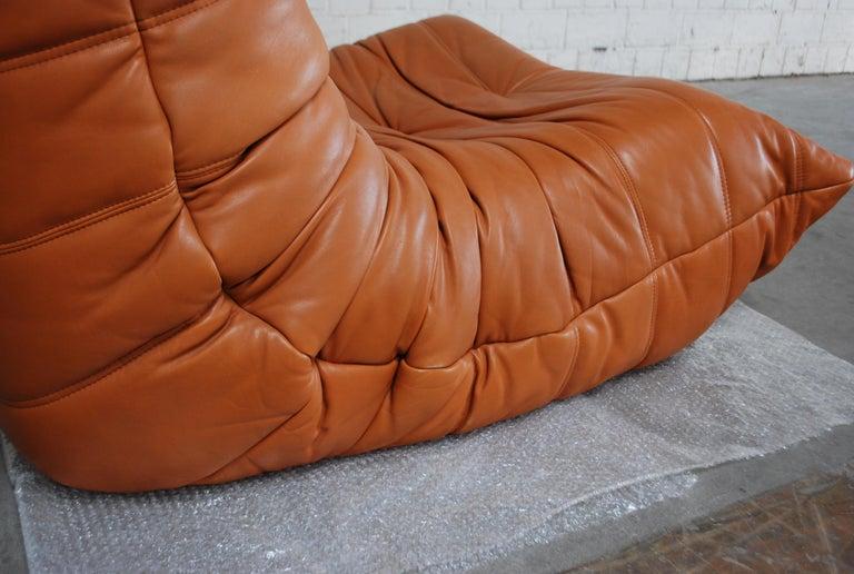 Original Ligne Roset Togo Cognac Aniline Leather Chair 12