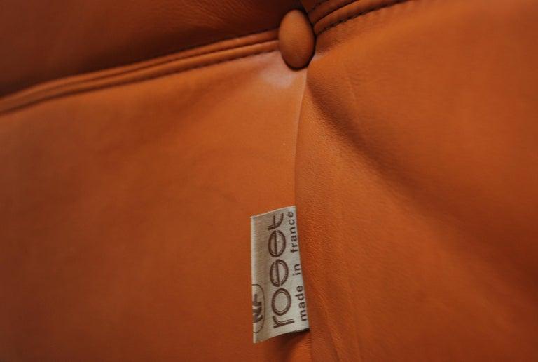 Original Ligne Roset Togo Cognac Aniline Leather Chair 14