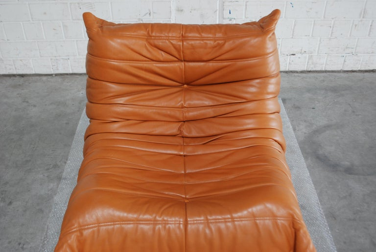 Original Ligne Roset Togo Cognac Aniline Leather Chair 17