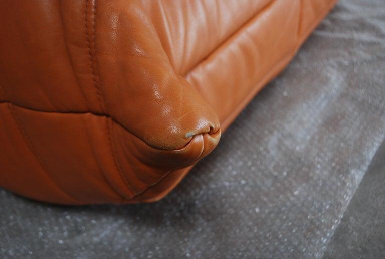 Original Ligne Roset Togo Cognac Aniline Leather Chair 20