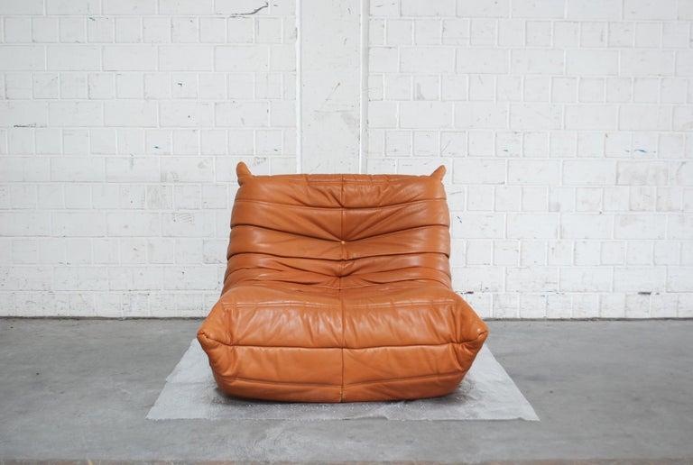 Original Ligne Roset Togo Cognac Aniline Leather Chair 3