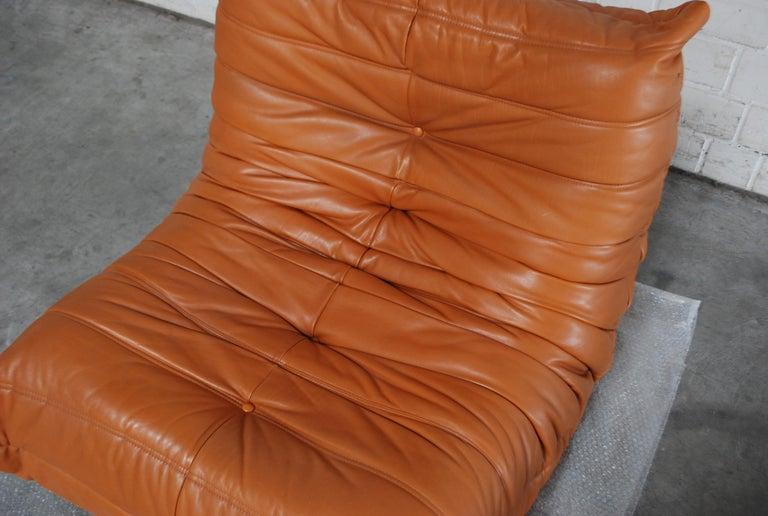 Original Ligne Roset Togo Cognac Aniline Leather Chair 4