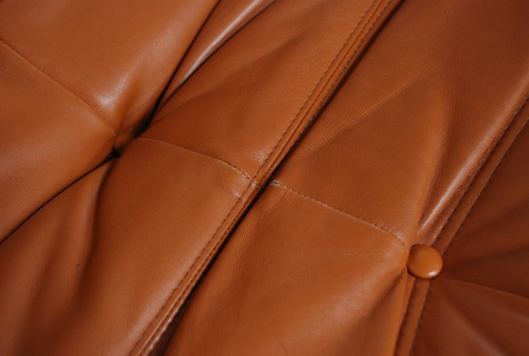Original Ligne Roset Togo Cognac Aniline Leather Chair 8