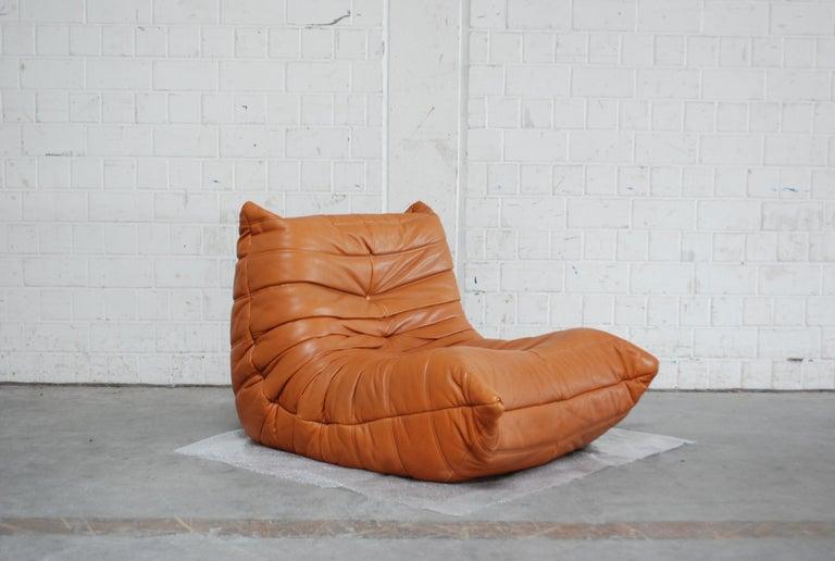 Original Ligne Roset Togo Cognac Aniline Leather Chair 9