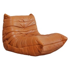 Original Ligne Roset Togo Cognac Aniline Leather Chair