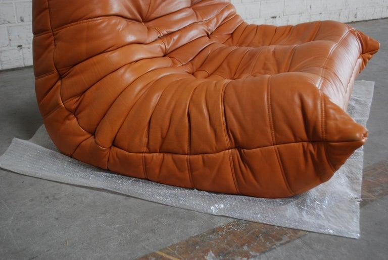 Original Ligne Roset Togo Cognac Brandy Aniline Leather Sofa 14