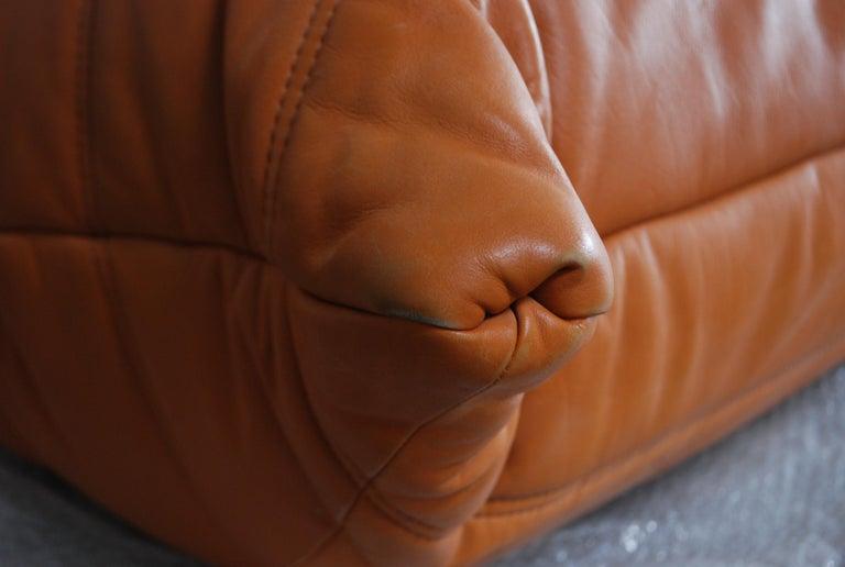 Original Ligne Roset Togo Cognac Brandy Aniline Leather Sofa 6