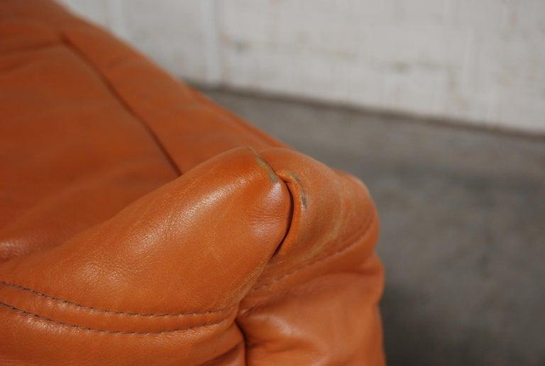 Original Ligne Roset Togo Cognac Brandy Aniline Leather Sofa 8