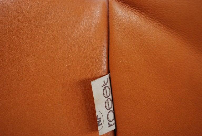 Original Ligne Roset Togo Cognac Brandy Aniline Leather Sofa 9