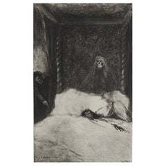 Original Limited Edition Print by Frederick S. Coburn- Case of M.Valdemar, 1902
