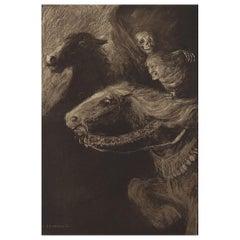 Original Limited Edition Print by Frederick Simpson Coburn- Metzengerstein, 1902