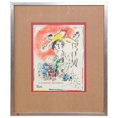 "Original lithograph by Chagall ""Pour Fernand Mourlot II"""