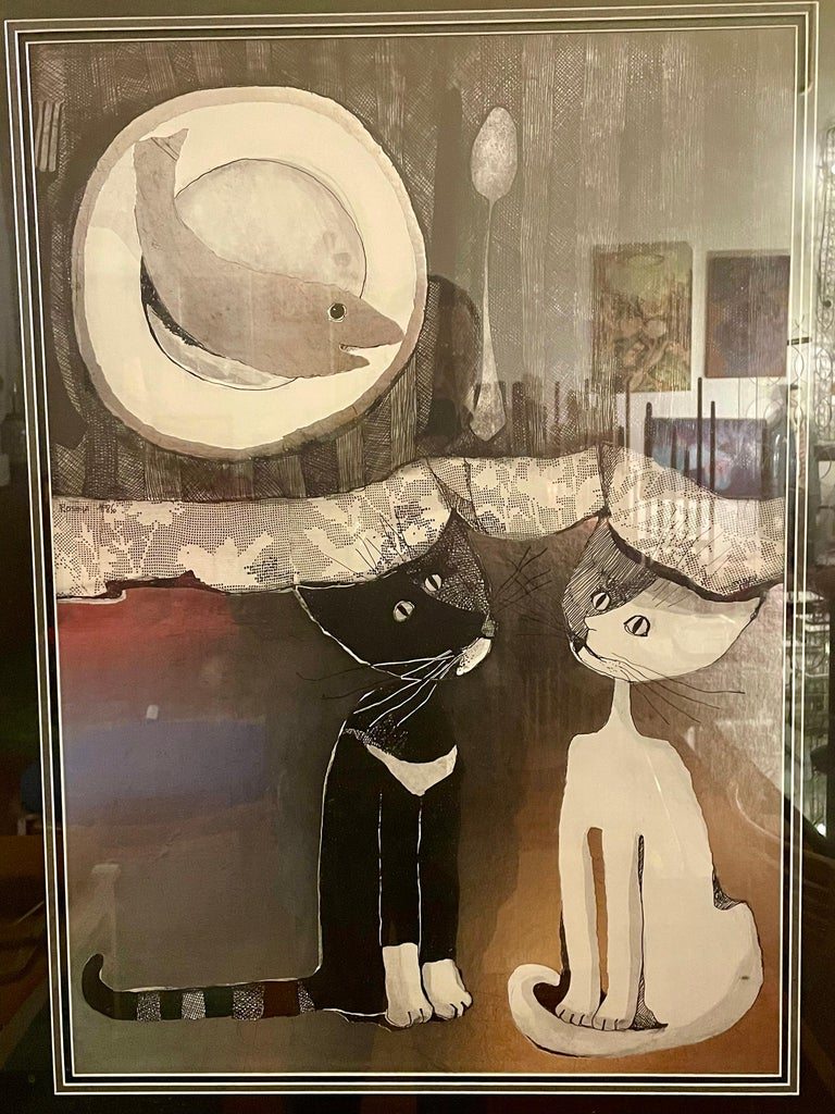 20th Century Original Lithograph by Listed Artist Rosina Wachtmeister For Sale
