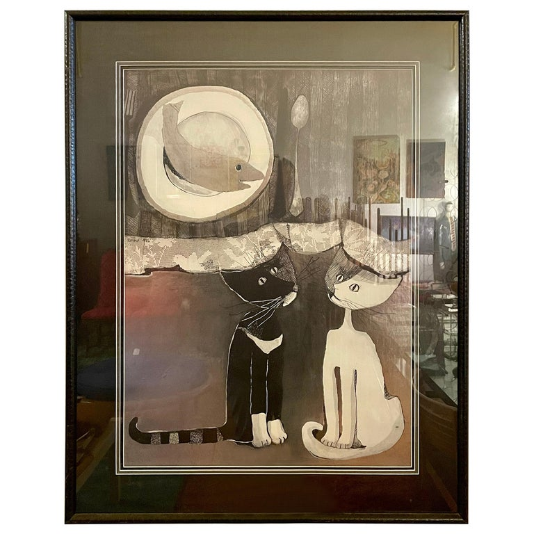 Original Lithograph by Listed Artist Rosina Wachtmeister For Sale