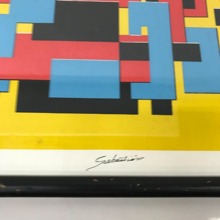 """For your consideration a small lithograph signed by Sebastian. Inscription in the lower left corner: """"P/A"""" (artist proof).  Original wood frame painted in black shows signs of vintage wear present.  Original unrestored condition.   Made in"""